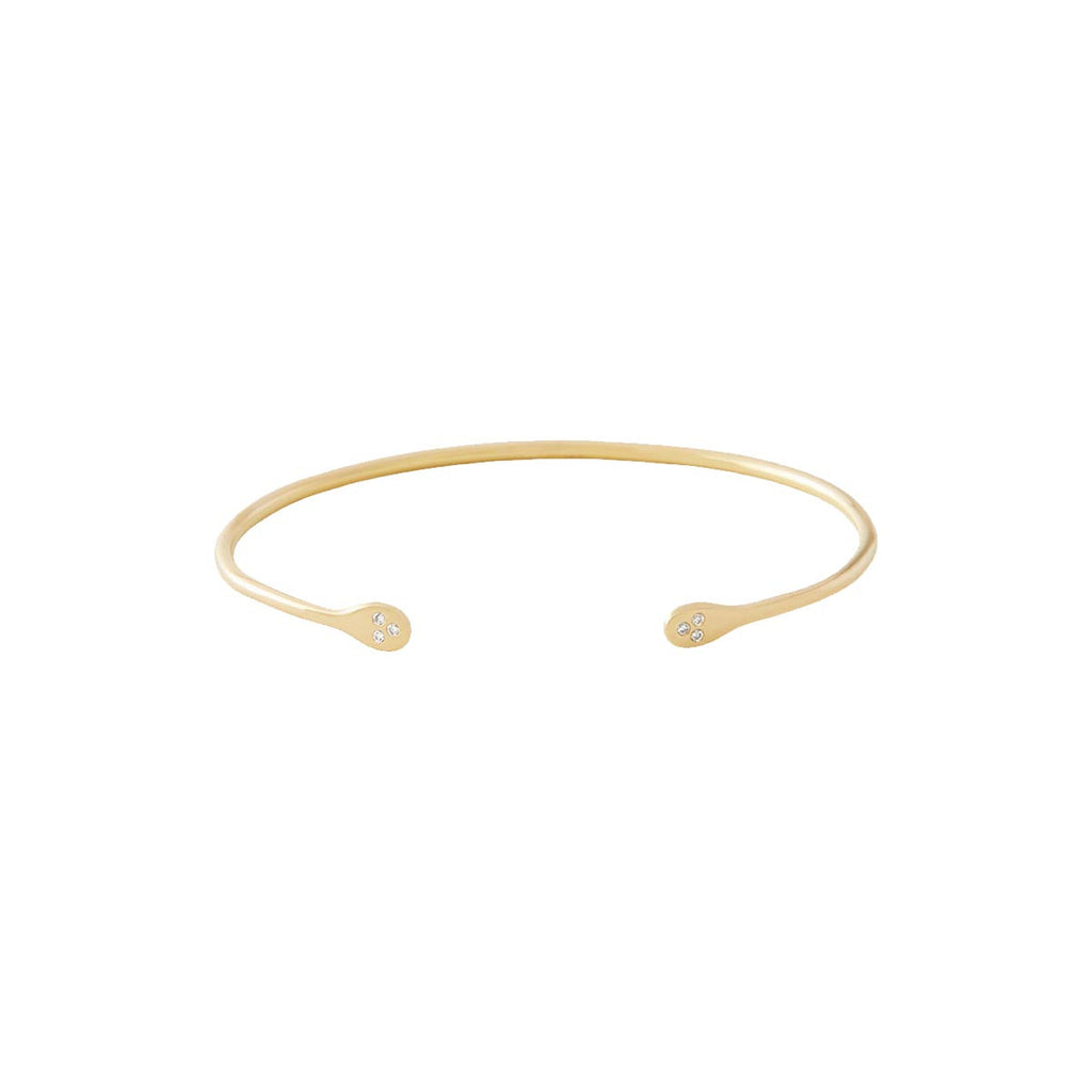 Thin Gold Cuff with Diamonds