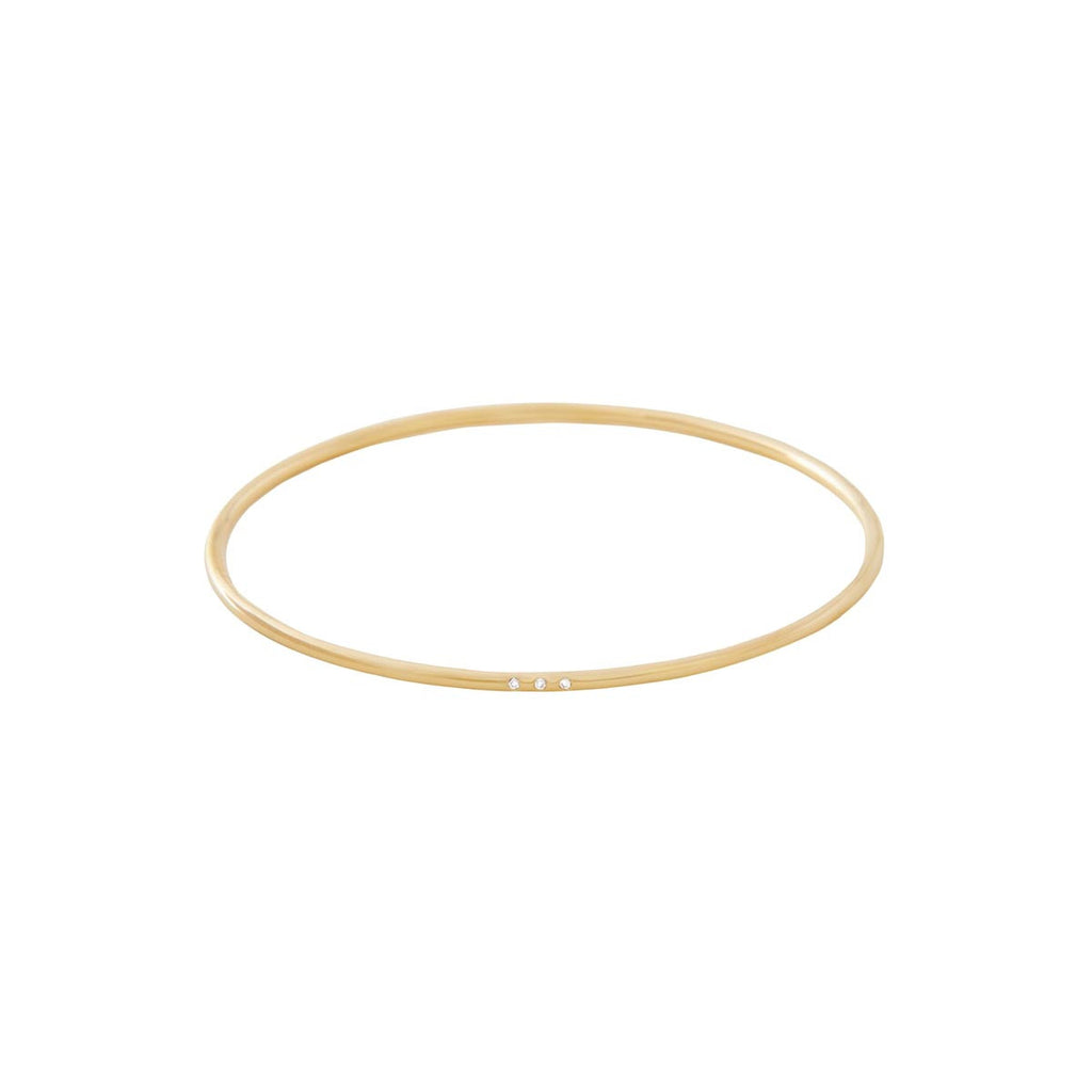 Bangle with Tiny Diamonds