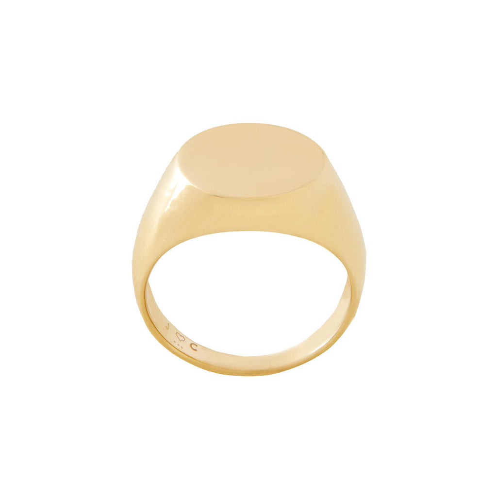 s ring addiction rings signet gold oval vermeil engravable eve