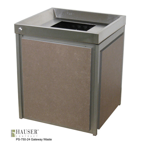 Gateway Waste/Recycle Receptacle - Hauser Contract