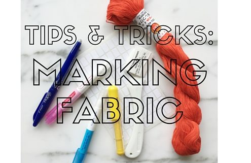 Tips and Tricks for Marking Fabric