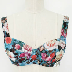 Boylston Bra in Bright Floral Charmeuse by Orange Lingerie