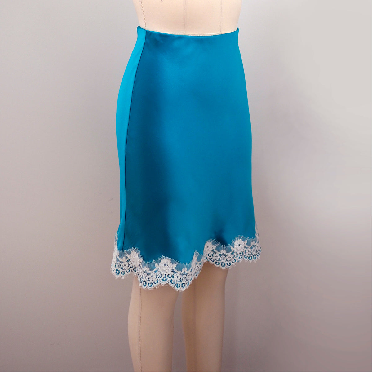 Turquoise Newell Slip Skirt by Orange Lingerie