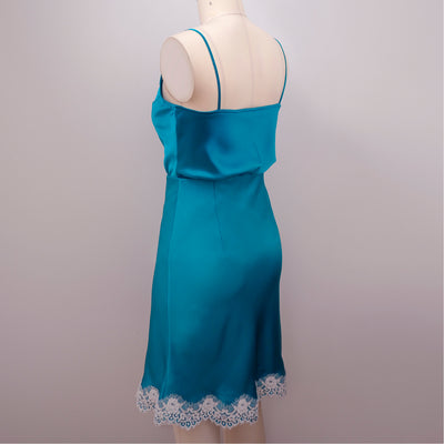 Turquoise Bellevue Camisole with Newell Slip Skirt by Orange Lingerie