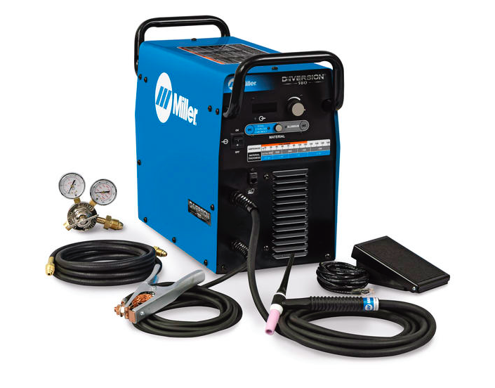 MILLER ELECTRIC DIVERSION 180 TIG WELDER-AC/DC TIG MVP 11/230V INPUT