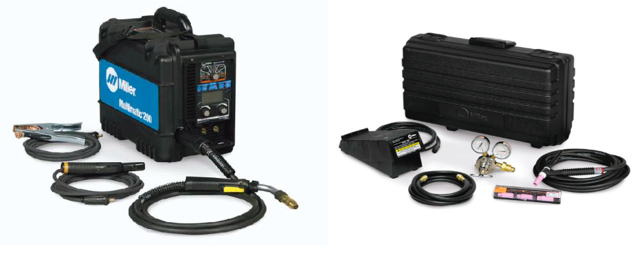 MILLER ELECTRIC MULTIMATIC 200 W/ TIG CONTRACTOR'S KIT