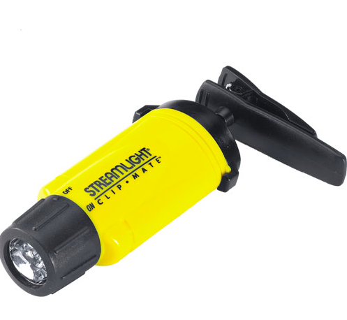 STREAMLIGHT CLIPMATE W/ WHITE LED'S AND ALKALINE BATTERIES- YELLOW