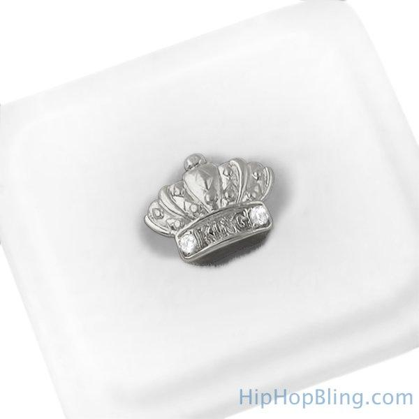 Silver King Crown Cap Tooth Grillz