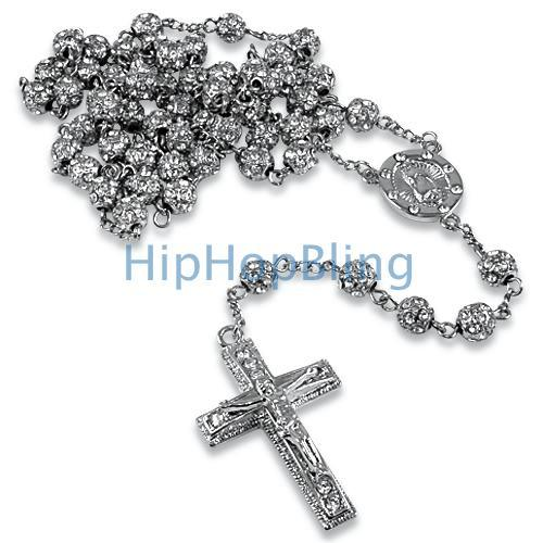 Platinum Style Totally Bling Rosary Chain