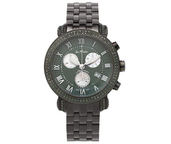 Matching Green Diamonds & Dial 3.50ct Black Joe Rodeo Watch