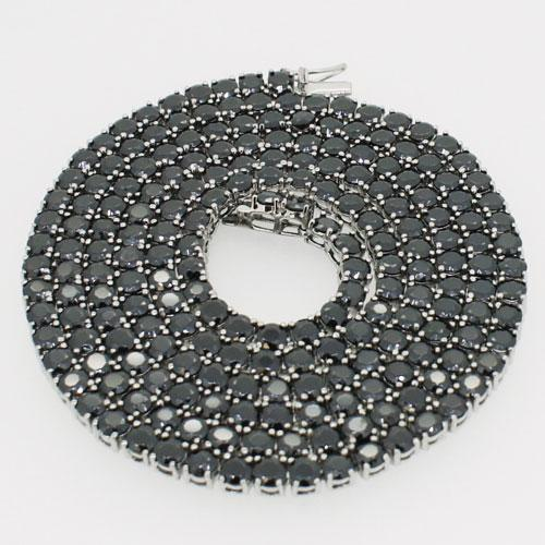 Black CZ Lab Made Bling Bling Chain 316L