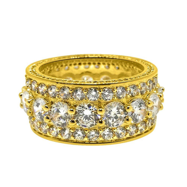 Bling Bling Royal 360 Eternity Band Gold CZ Ring