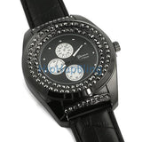 Deep Black Iced Out Bling Bling Watch