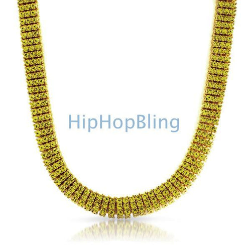 Lemonade 3 Row Canary Gold Bling Bling Chain