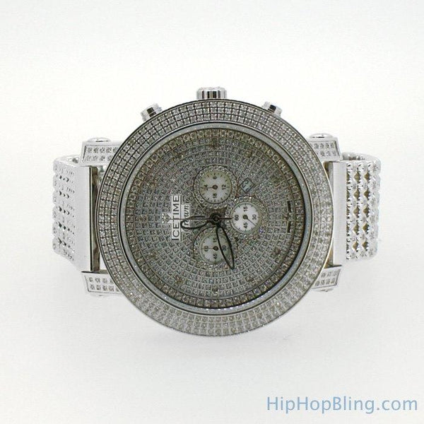 6.00 Carat Diamond Bezel & Band Icetime Steel Watch