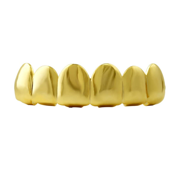10K Yellow Gold Grillz for Top Teeth