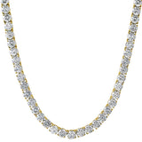 6MM CZ Gold Steel 1 Row Hip Hop Tennis Chain