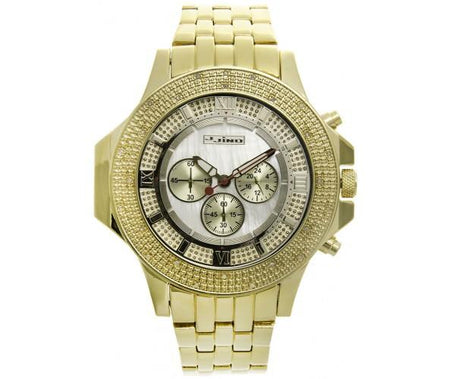 Big Rocks CZ Gold Bezel for Casio G Shock DW6900 Watch