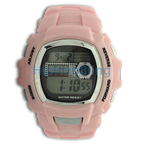 New Style Light Pink Digital Sports Watch