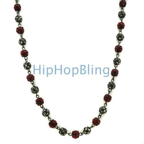 Red & Black Bead Bling Bling Chain