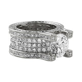 .925 Silver Baller Solitaire Eternity Ring