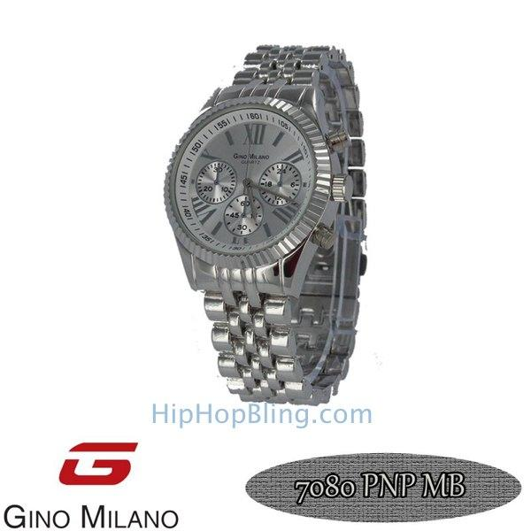 Gino Milano Jubilee Silver Watch Silver Dial