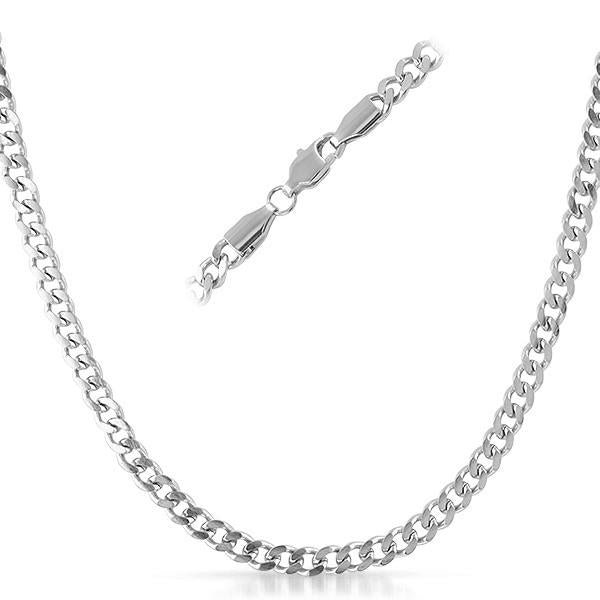 Cuban Stainless Steel Chain Necklace 4MM