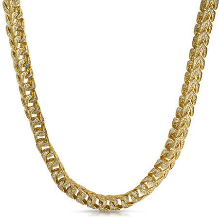 Lemonade Canary Iced Out Gold 2 Row Chain