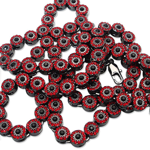 Cluster Chain Red w/ Black Center