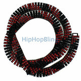 4 Row Chain Red & Black Candy Cane