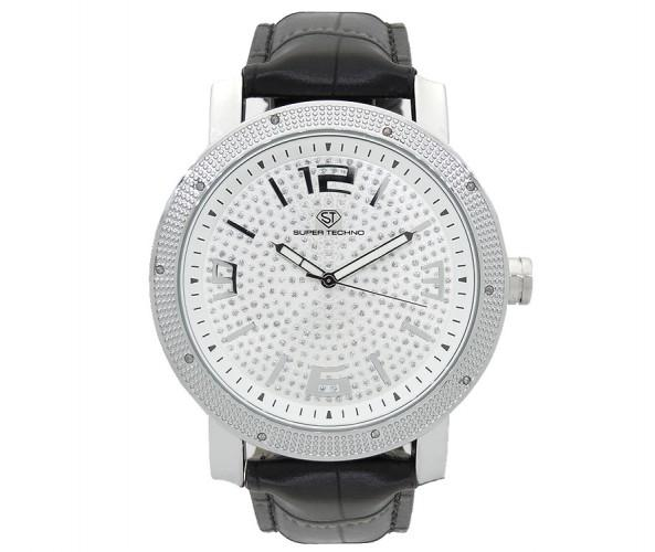 Real Diamond Super Techno Watch .10cttw