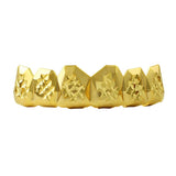 Custom Gold Grillz Diamond Cut Top