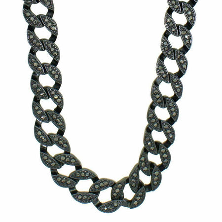 Black Cluster Chain Hip Hop Rosary Necklace