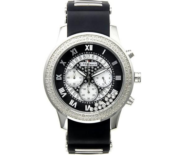 JoJino Diamond Watch .25cttw Sport Black Band