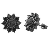 Sun Shine Black CZ Bling Bling Earrings