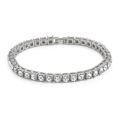 1 Row Bling Bling Tennis Bracelet Rhodium