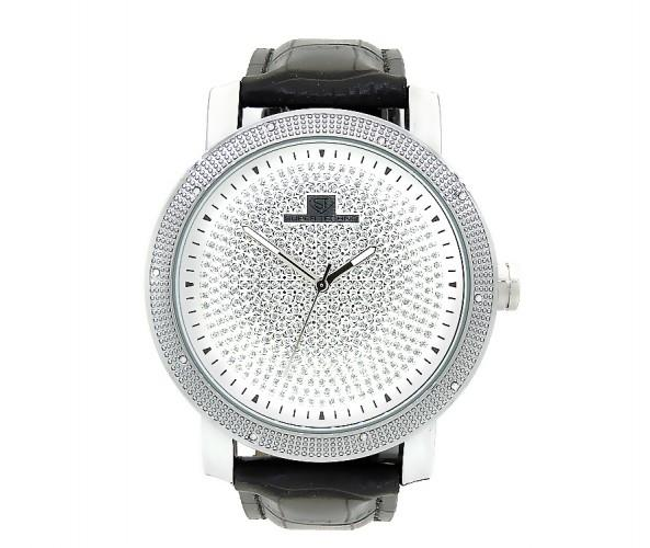 Pave Style Super Techno Watch .10ct Diamonds