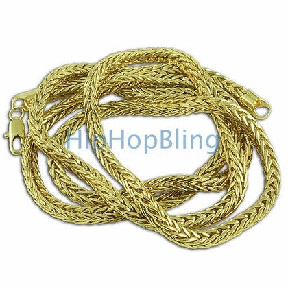 4mm Foxtail Franco Gold Hip Hop Chain