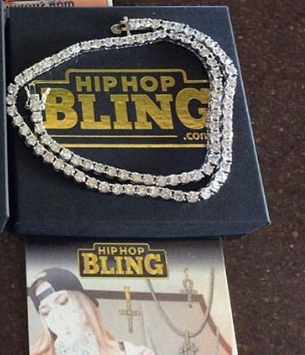 3MM 1 Row CZ Bling Bling Rhodium Tennis Chain