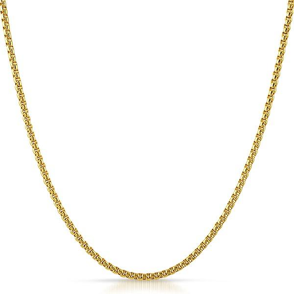 Rounded Box Gold Stainless Steel Chain