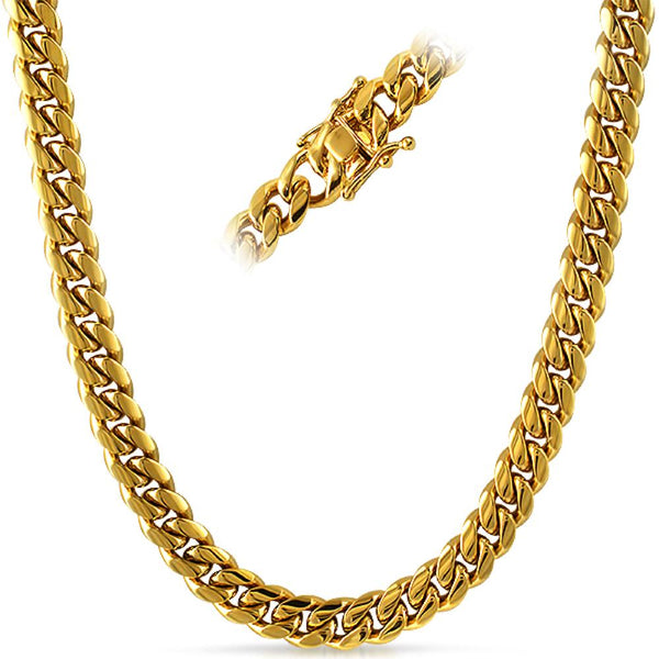 Miami Cuban 3X IP Gold Stainless Steel Chain