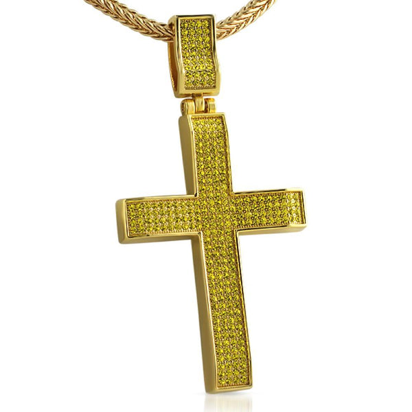 Lemonade Wavy Bling Bling Cross