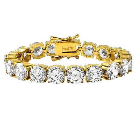 CZ 4 Row Gold Bling Bling Bracelet