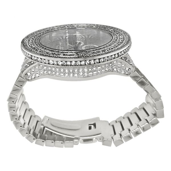 Bling Bling Big Bezel 60MM Rhodium Hip Hop Watch