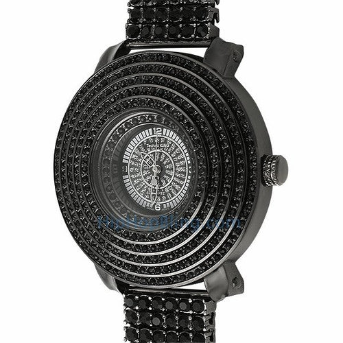 6 Row Cone Black Bling Bling Watch 6 Row Band