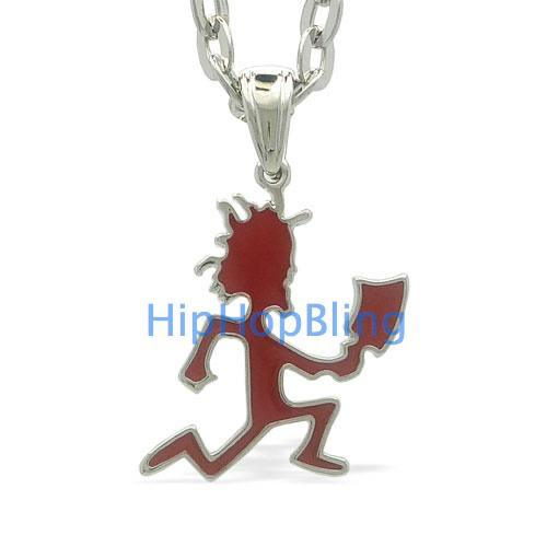 Small Red Hatchet Man Silver Pendant & Chain Officially Licensed