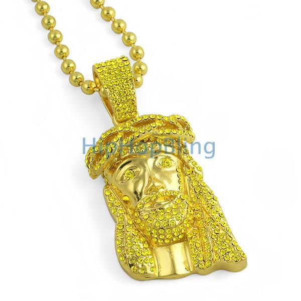 3D Lemonade Bling Bling Gold Jesus Piece & Chain