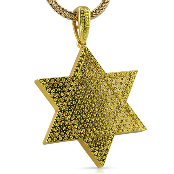 6 Point Star Lemonade Bling Bling Pendant