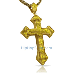 XL Dagger Hip Hop Cross Pendant Lemonade