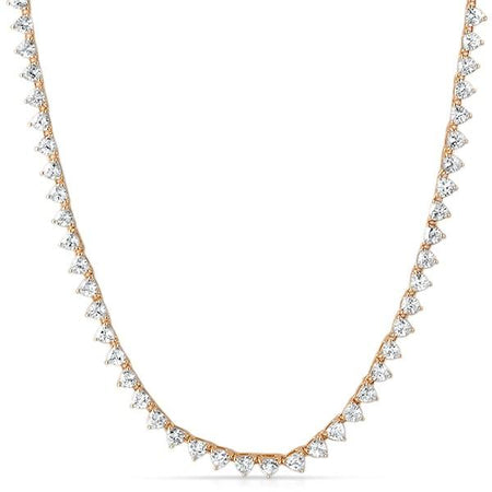 .925 Silver 2MM CZ Micro Tennis Chain Rose Gold Bling